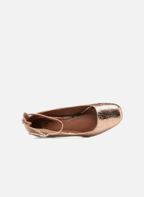 Ballet pumps I Love Shoes CAMILLA Bronze and Gold view from the left