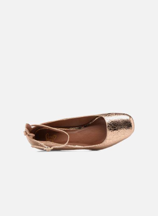 Ballerines I Love Shoes CAMILLA Or et bronze vue gauche