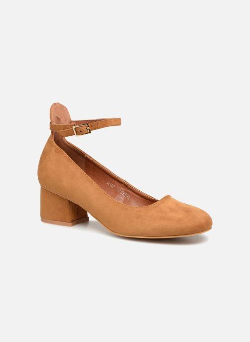 Ballerinaer I Love Shoes CAMILLA Brun detaljeret billede af skoene