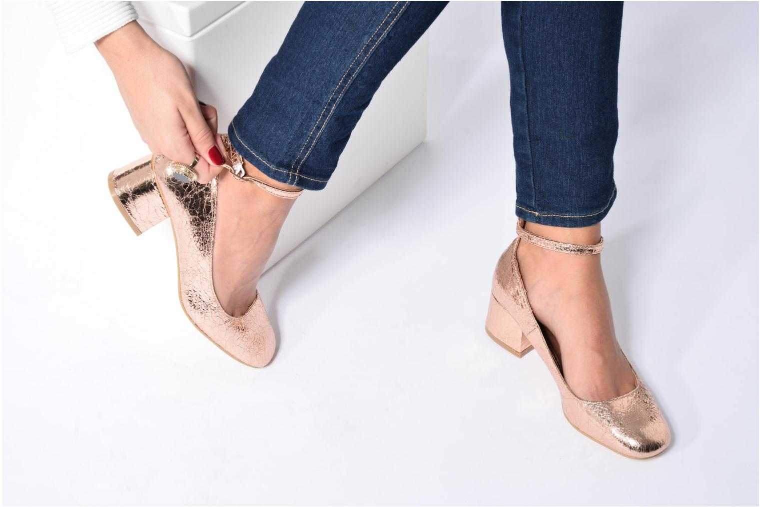 Ballet pumps I Love Shoes CAMILLA Blue view from underneath / model view