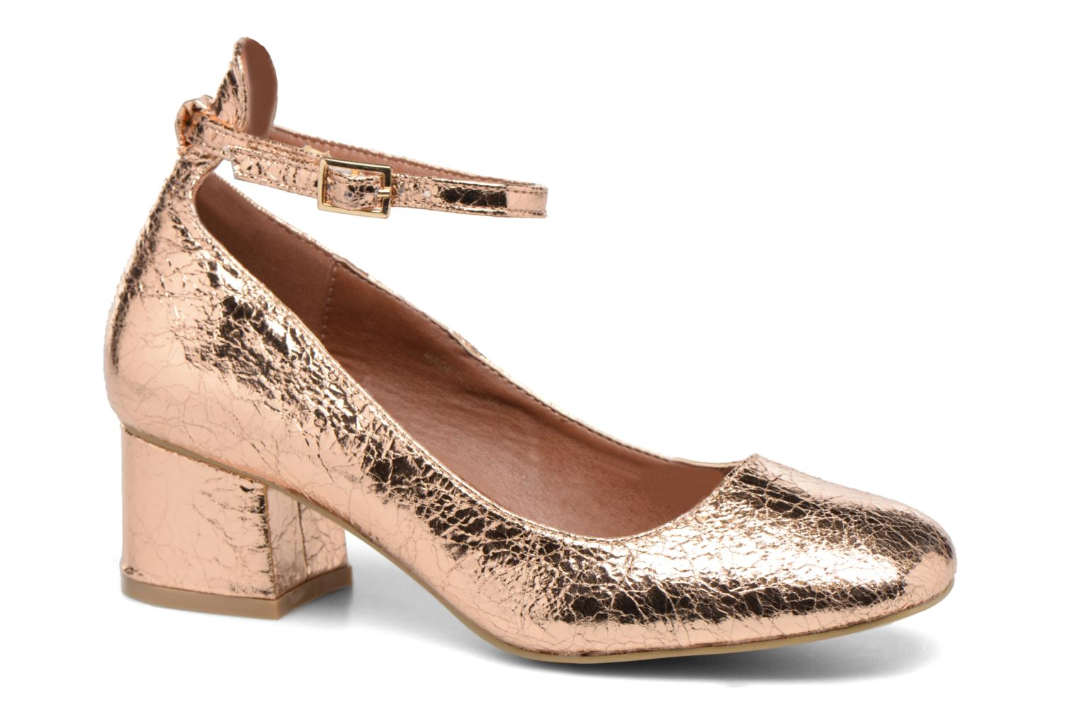 Ballet pumps I Love Shoes CAMILLA Bronze and Gold detailed view/ Pair view