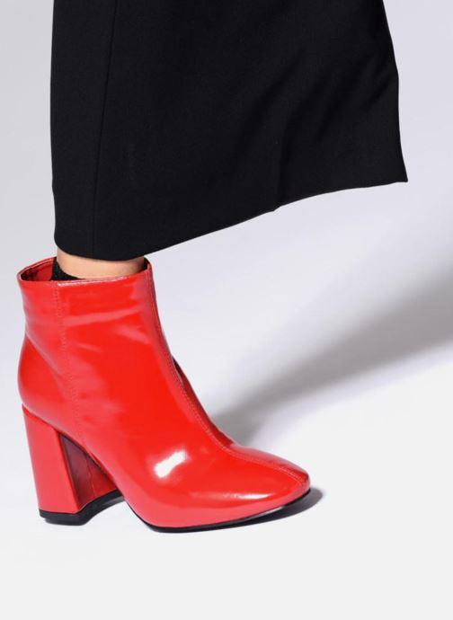 Stiefeletten & Boots I Love Shoes CORINA rot ansicht von unten / tasche getragen