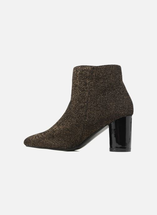 Ankle boots I Love Shoes CRISTINA Bronze and Gold front view