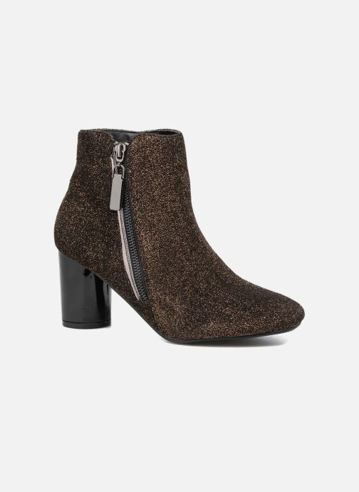 Ankle boots I Love Shoes CRISTINA Bronze and Gold detailed view/ Pair view