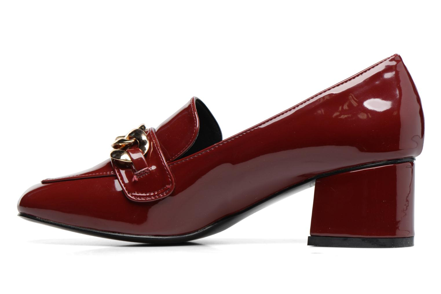 Loafers I Love Shoes CELINA Burgundy front view