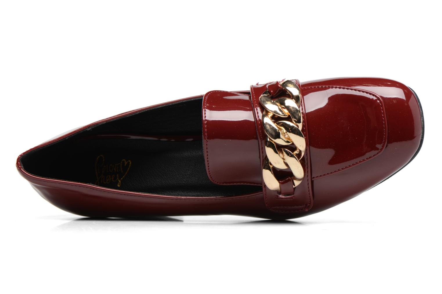 Loafers I Love Shoes CELINA Burgundy view from the left