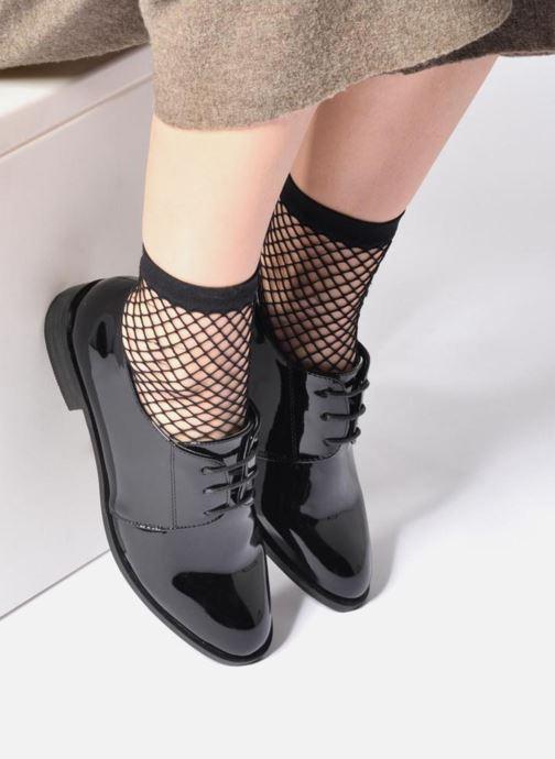 Chaussures à lacets I Love Shoes CLEMIA Noir vue bas / vue portée sac
