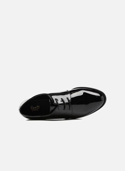 Scarpe con lacci I Love Shoes CLEMIA Nero immagine sinistra