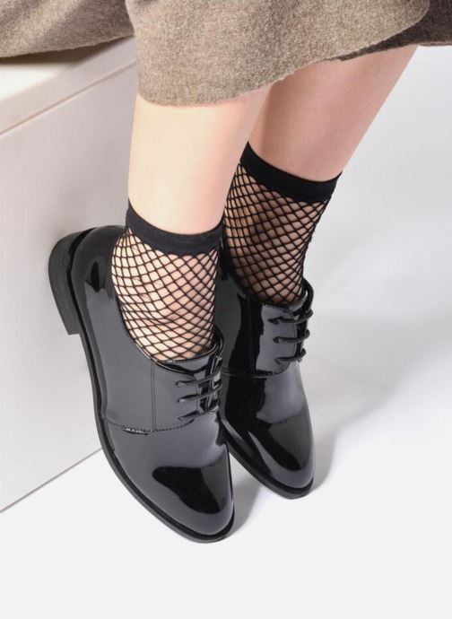 Lace-up shoes I Love Shoes CLEMIA Silver view from underneath / model view