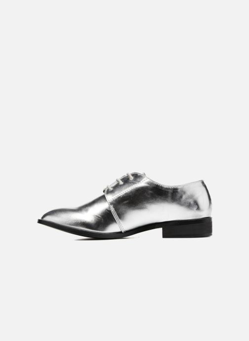 Lace-up shoes I Love Shoes CLEMIA Silver front view