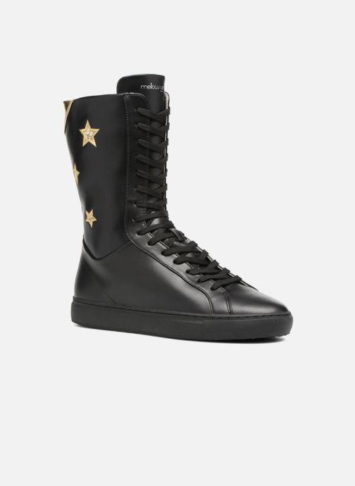 Støvler & gummistøvler Mellow Yellow Clabox Sort detaljeret billede af skoene