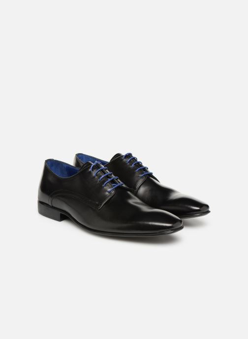 Lace-up shoes Azzaro NABALI Black 3/4 view