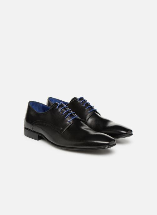 Zapatos con cordones Azzaro NABALI Negro vista 3/4