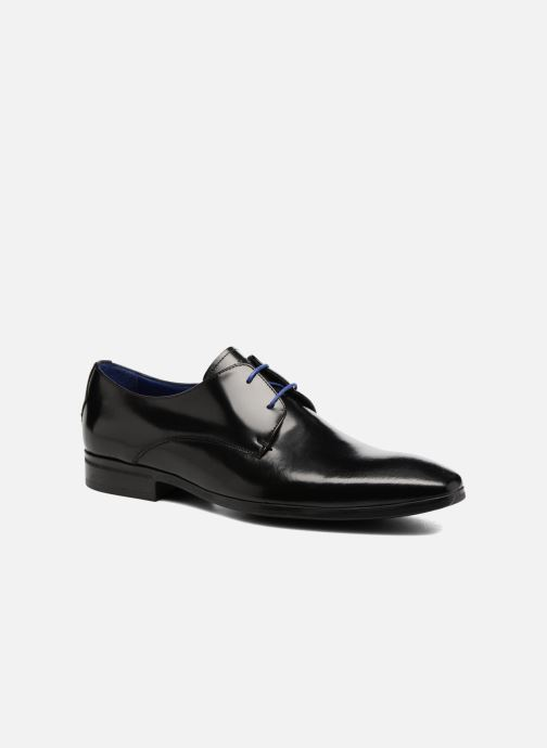 Snøresko Azzaro NOGREL Sort detaljeret billede af skoene