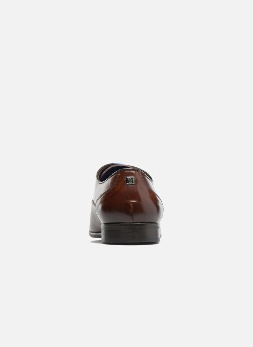 Lace-up shoes Azzaro RAEL Brown view from the right