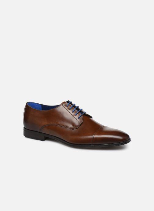 Snøresko Azzaro REMAKE Brun detaljeret billede af skoene