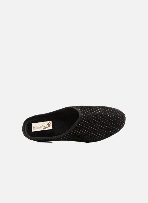 Pantofole Rondinaud Harcy Nero immagine sinistra