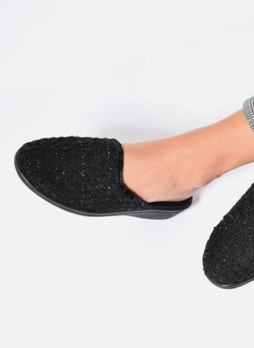 Slippers Rondinaud Empeaux Black view from underneath / model view