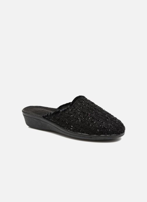 Slippers Rondinaud Empeaux Black detailed view/ Pair view