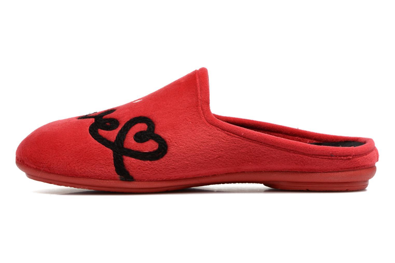Pantuflas Rondinaud Guisane Rojo vista de frente