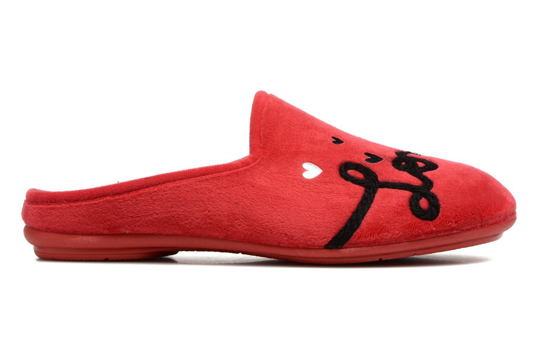 Pantuflas Rondinaud Guisane Rojo vista lateral derecha