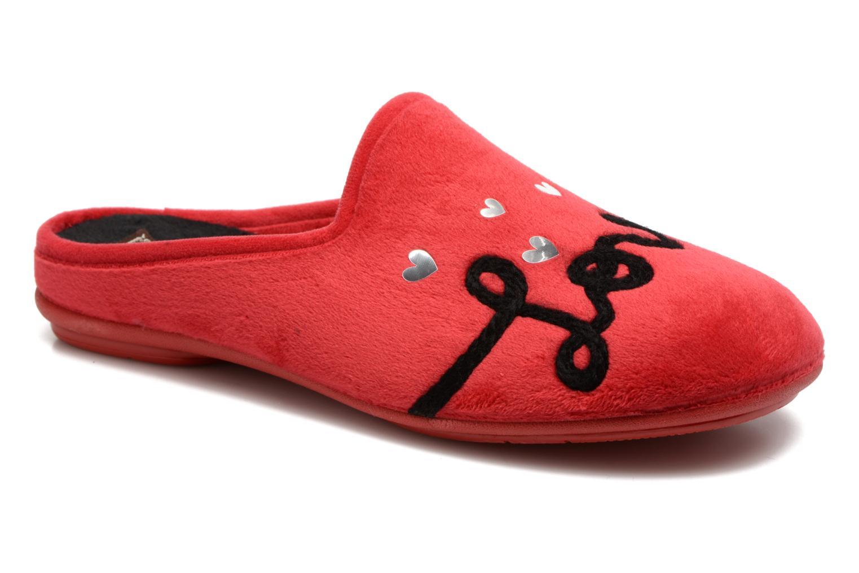 Pantuflas Rondinaud Guisane Rojo vista de detalle / par