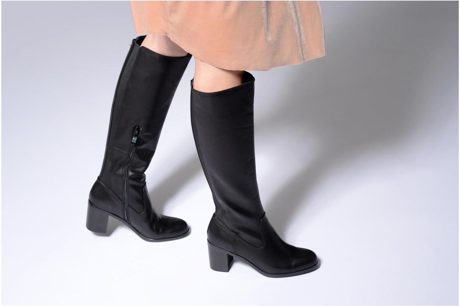 Boots & wellies Buffalo Annia Black view from underneath / model view
