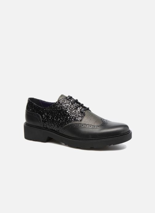 Lace-up shoes Anaki Nicky Black detailed view/ Pair view