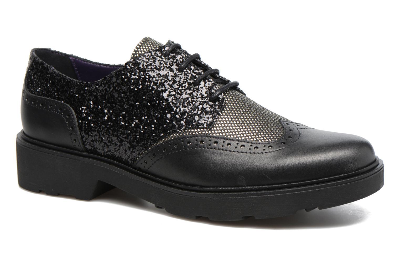 Zapatos con cordones Anaki Nicky Negro vista de detalle / par