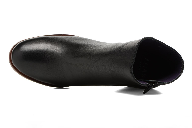 Botines  Anaki Jada Negro vista lateral izquierda