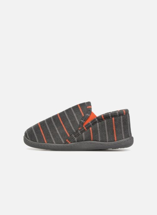 Slippers Isotoner Mocassin Grey front view