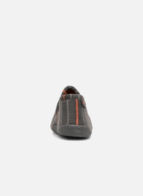 Slippers Isotoner Mocassin Grey view from the right