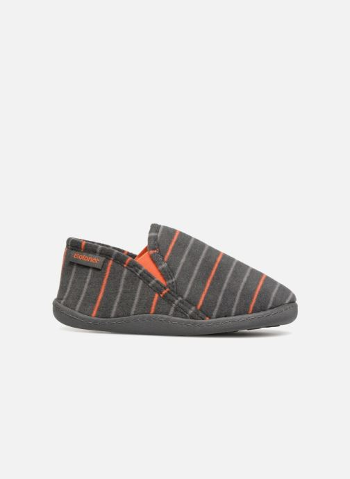 Slippers Isotoner Mocassin Grey back view