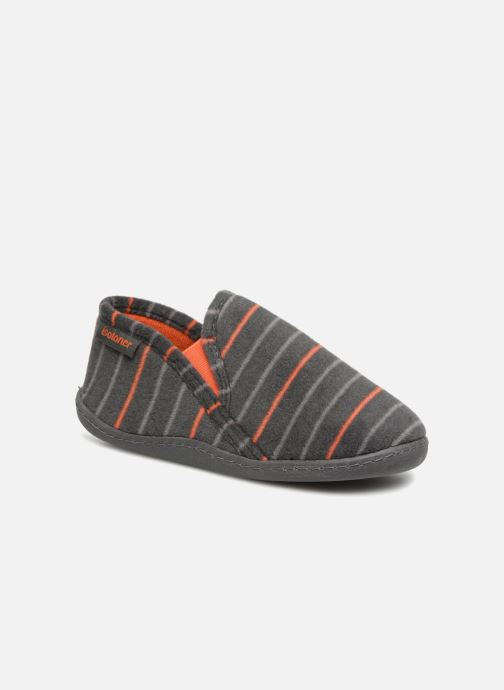 Slippers Isotoner Mocassin Grey detailed view/ Pair view