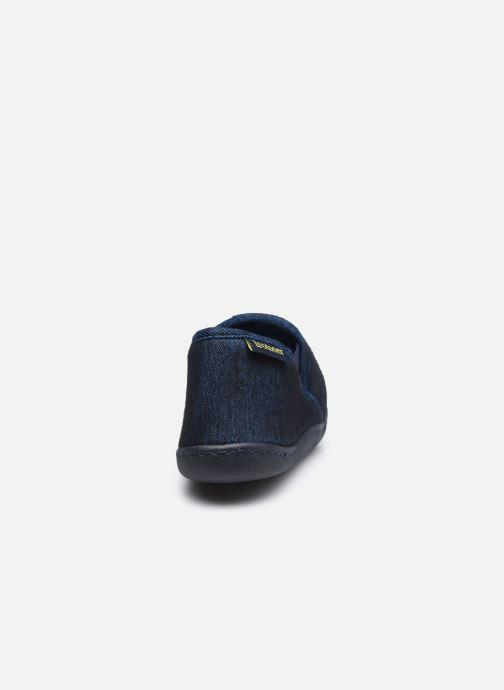 Chaussons Isotoner Mocassin Bleu vue droite