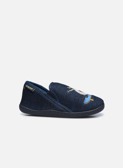 Pantuflas Isotoner Mocassin Azul vistra trasera