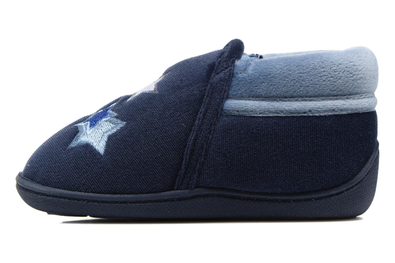 Pantoffels Isotoner Botillon Zip Polyvelours Blauw voorkant