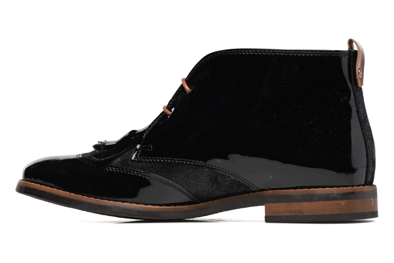 Lace-up shoes Georgia Rose Nougat Black front view