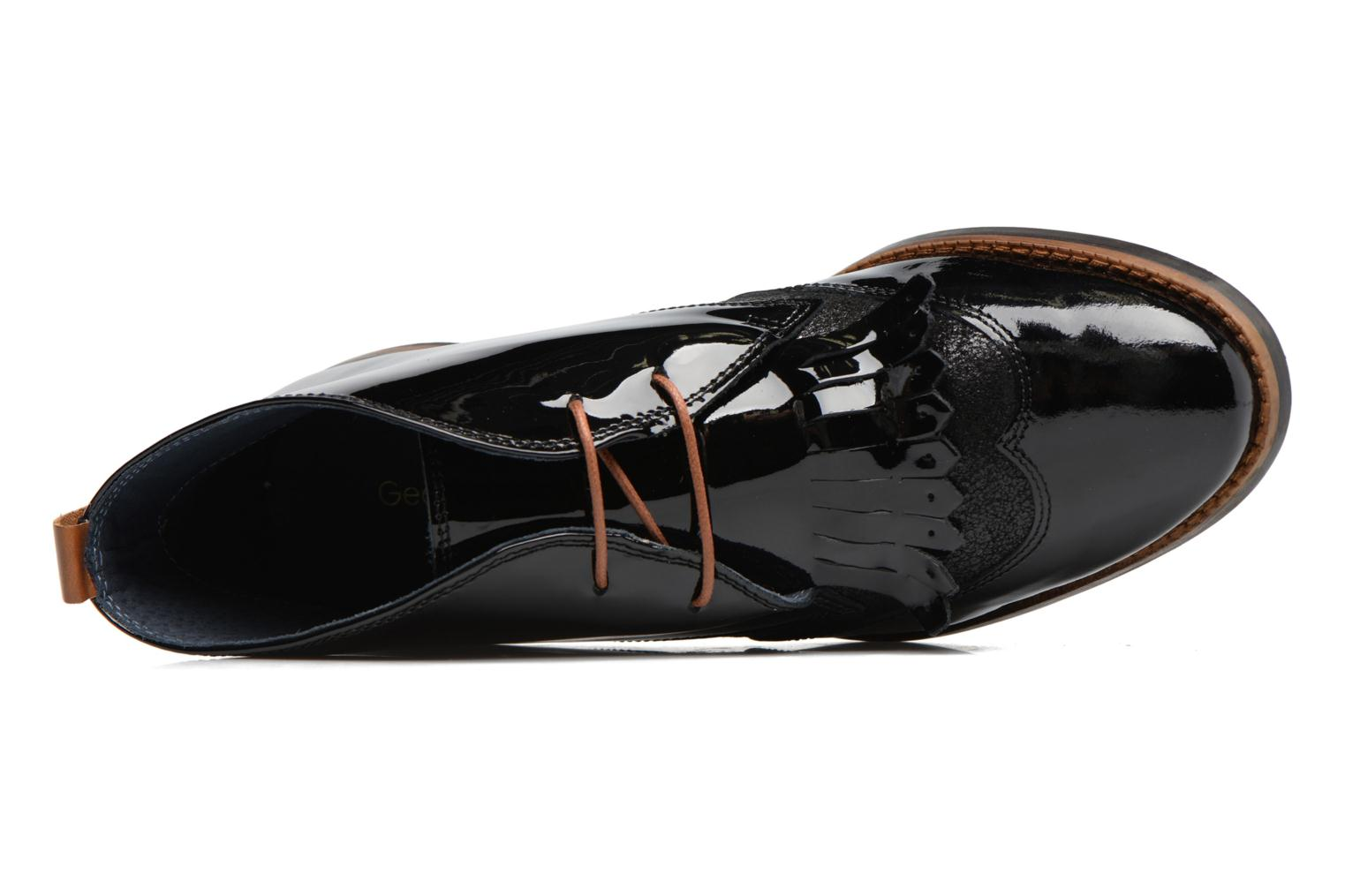 Lace-up shoes Georgia Rose Nougat Black view from the left