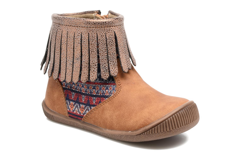 Boots en enkellaarsjes NA! Aria Bruin detail