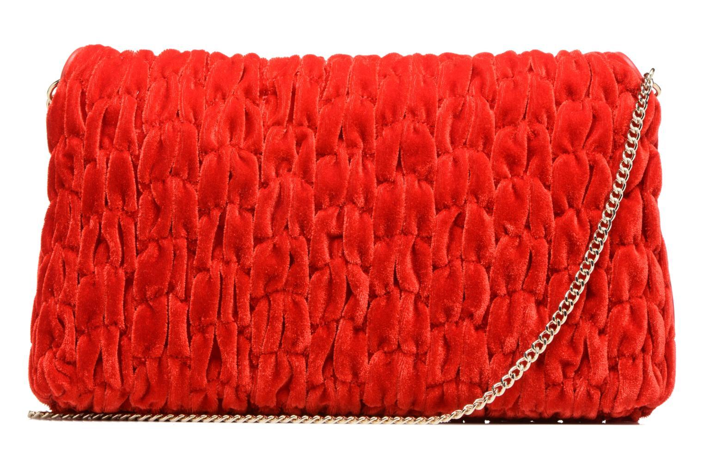 Borse Love Moschino Pochette Chaine Velvet Rosso immagine frontale