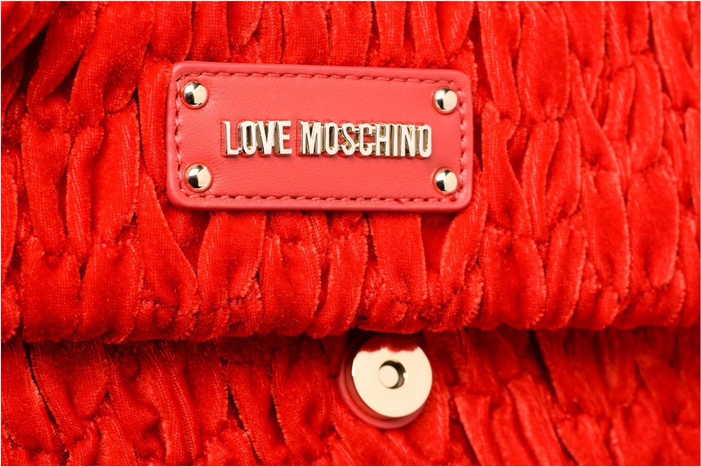 Borse Love Moschino Pochette Chaine Velvet Rosso immagine sinistra