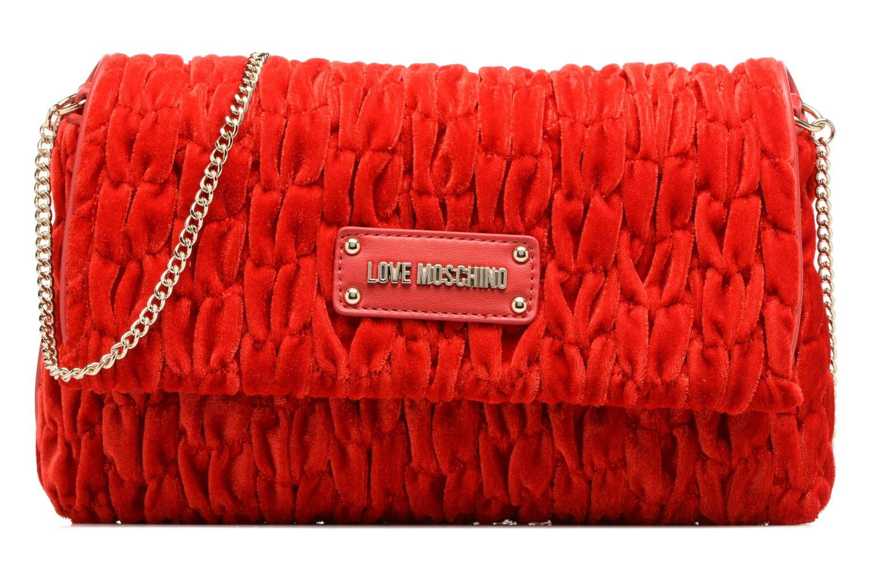 Borse Love Moschino Pochette Chaine Velvet Rosso vedi dettaglio/paio
