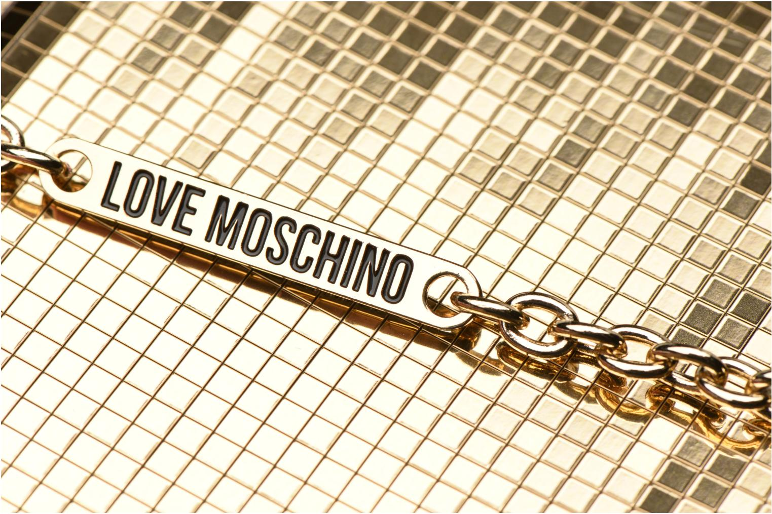 Handbags Love Moschino Minaudière Multi-Facettes Bronze and Gold view from the left