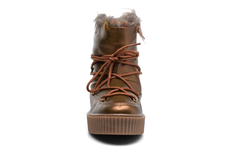 Bottes Gioseppo Fourra Or et bronze vue portées chaussures