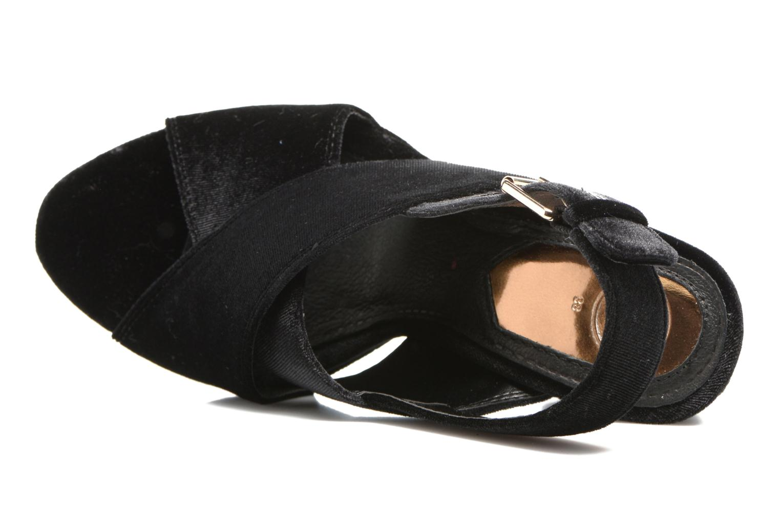 Sandals Gioseppo Sivie Black view from the left