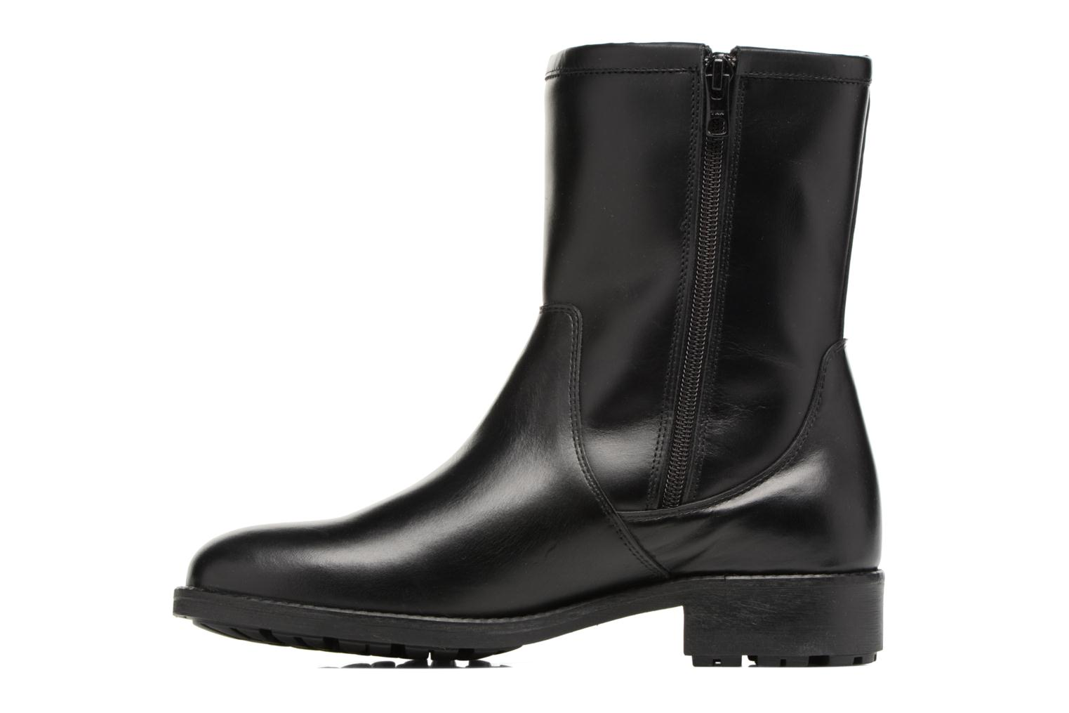 Boots & wellies Aigle Chante Mid Fur Black front view