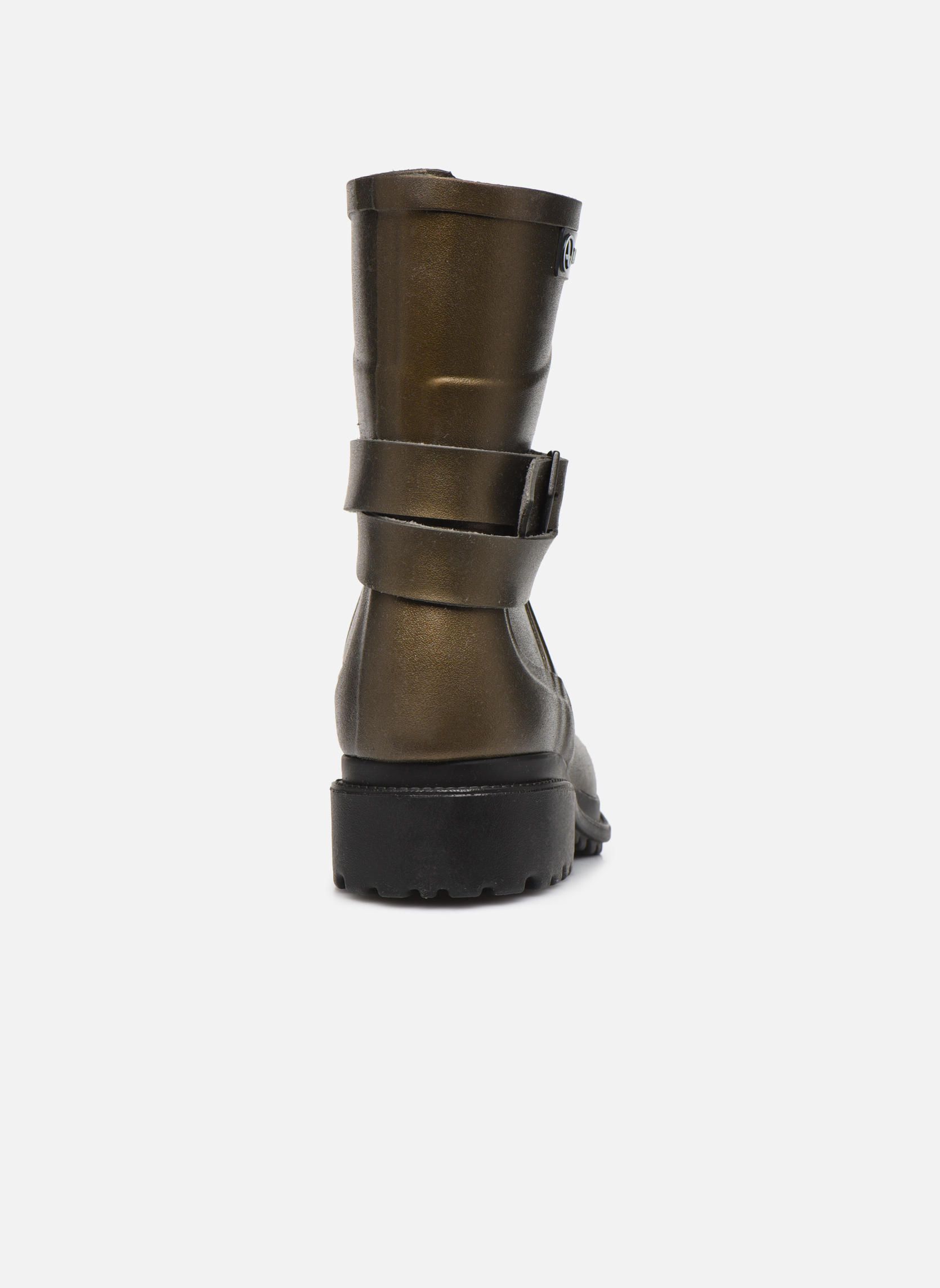 Boots & wellies Aigle Macadames MD Bronze and Gold view from the right