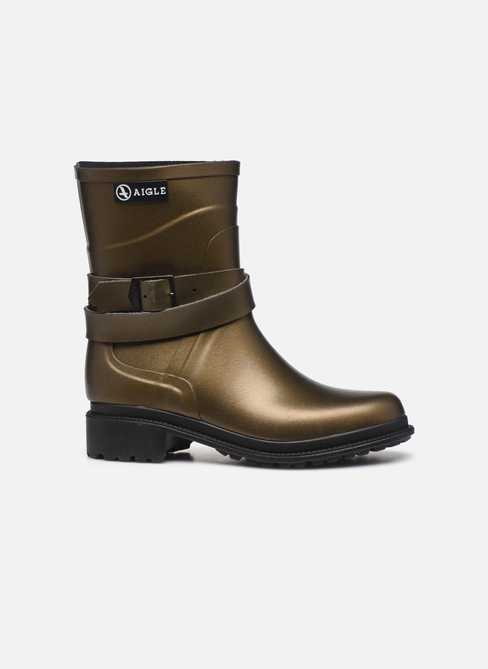 Boots & wellies Aigle Macadames MD Bronze and Gold back view