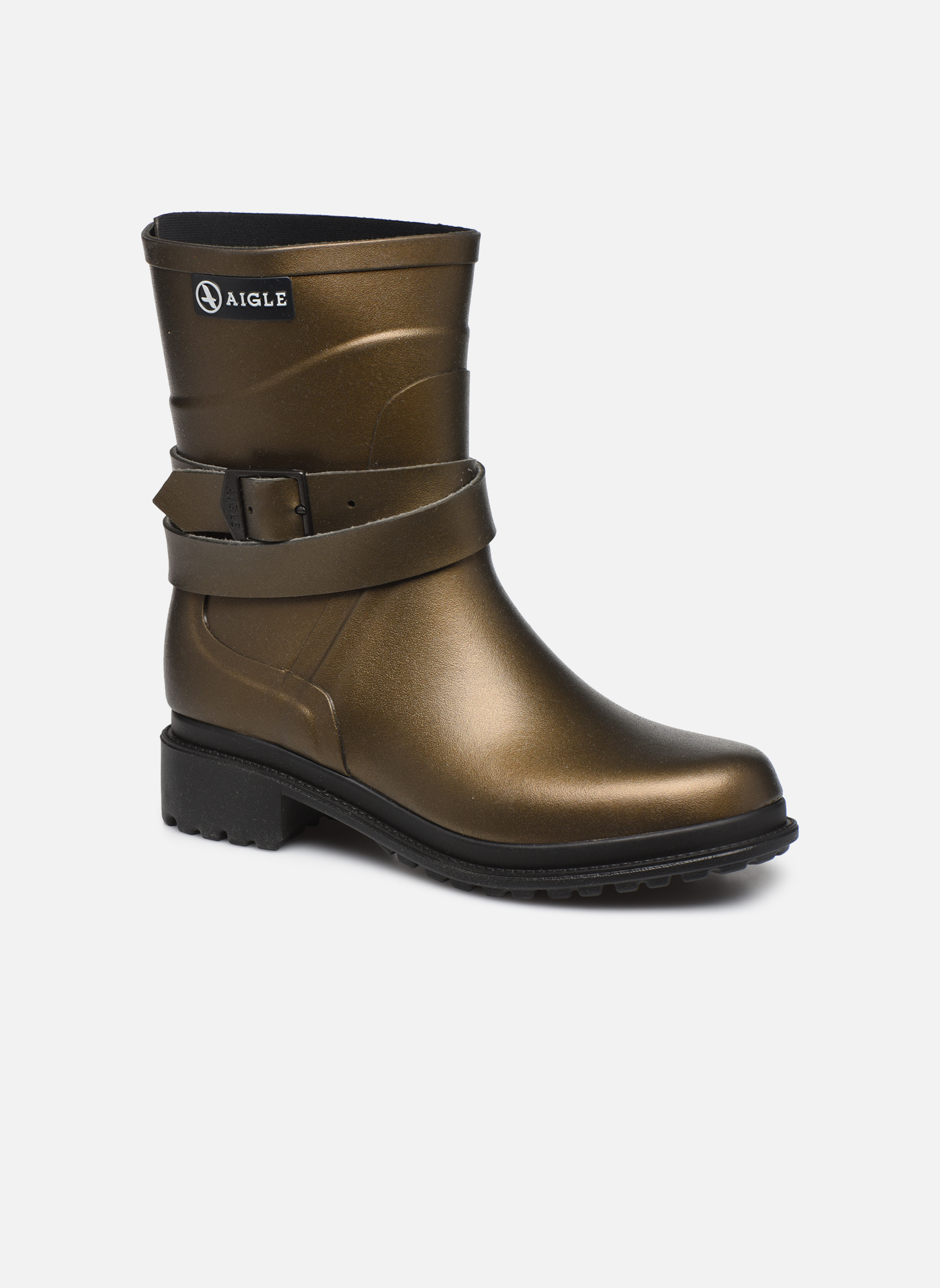 Boots & wellies Aigle Macadames MD Bronze and Gold detailed view/ Pair view